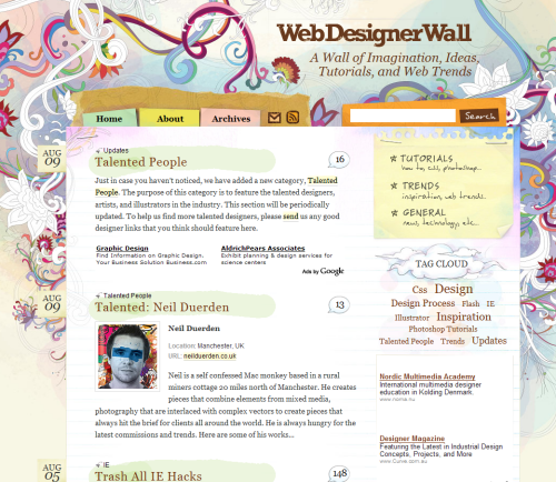 Wall in 45 Excellent Blog Designs