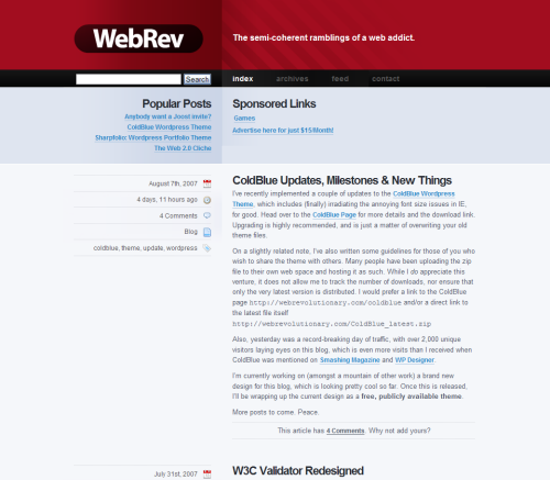 Webrevu in 45 Excellent Blog Designs